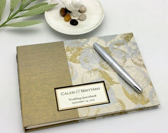 Classic Guest Book, Design Your Own, Wedding Guest Book, Blank Guest Book, Lined Guest Book, Made to Order