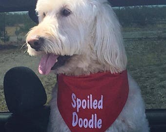 Spoiled Doodle Dog Bandana...other breeds available also