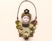 Original Handmade Steampunk Angel Fairy Assemblage Art Doll Keepsake Ornament