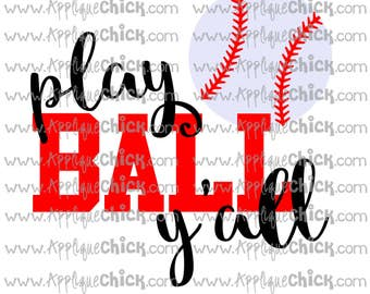 Play Ball Y'all Baseball SVG Clipart