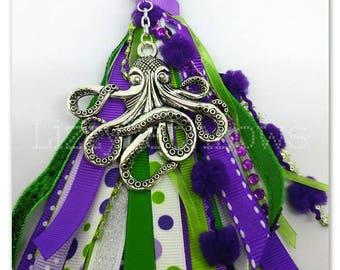 Planner tassel, multi functional tassel, purse tassel, octopus tassel, purple octopus tassel