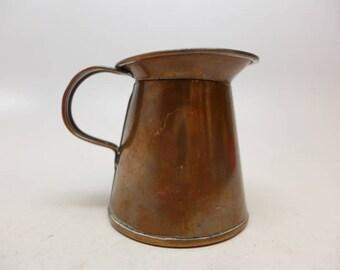 Antique Copper Pitcher - Copper Creamer - Copper Kitchen Tool - Primitive Copper