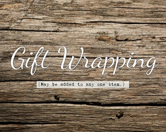 GIFT WRAP for one item, Gift wrapping for Zaisy, Convenience, Easy Gifting
