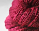 Poisonous cocktail cherry - Merino/Silk/Cashmere Fine Lace Yarn - LSOH