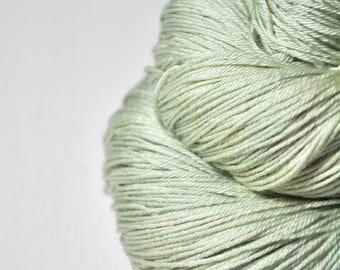 Fading ghost of a leaf OOAK - Merino/Silk Fingering Yarn Superwash