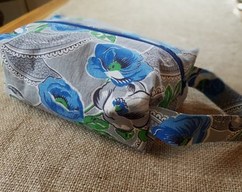 Blue Vintage Floral Large Ditty Bag