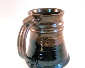Brown Stein - Renaissance Stein - Tankard - Coffee Mug - Large 24 oz. - Handmade Pottery - Pottersong - Walnut Brown - Speckled Brown