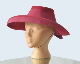 1930s Rose Wool Hat