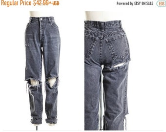 15% Off Black Friday SALE All SIZES Black Open Knee  Jeans Plus Sizes