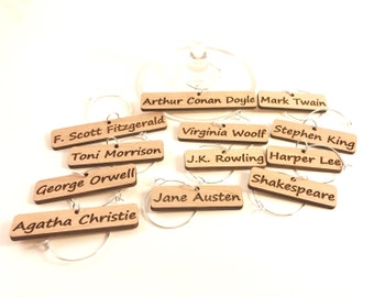 Authors - Wine Glass Charms