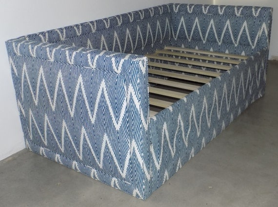 Custom Upholstered Daybed With Piping Detail and Back- Design Your Own