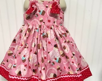 Pink Cupcakes Birthday Boutique Dress Size 2T 3T 4T 5 6