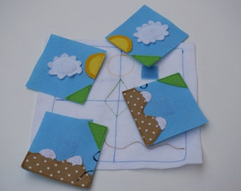 Puzzle- Quiet Book Page / Quiet Book Toy / Toddler Busy Book / Gift for Kid  / Travel Toy / Felt Book / Cloth Book /Learning Toy /Quiet Book