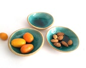 House warming gift - Handmade Ceramic Bowls set (3 bowls) - Unique gifts - Decorative bowls inspired by the sea - Gift sets