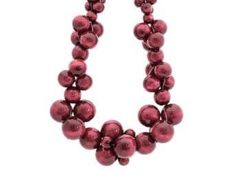 Wooden statement necklace MoleCOOLs Bordeaux