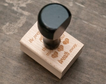 Photographer Packaging - Wooden Stamp for Photographers - Packaging Stamp - Breath