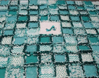 Ovarian Cancer Quilt /  Rag Quilt Ready To Ship