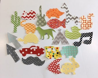 20 Iron On Appliques Gender Neutral Baby Shower Activity Baby Appliques