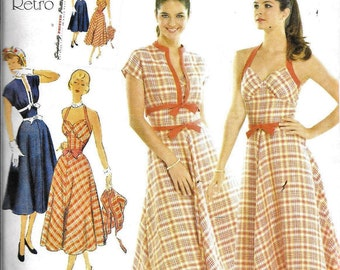 Simplicity 3780 Vintage 50s Bolero Jacket Halter Dress Sewing Pattern Size 6, 8, 10, 12 and 14 UNCUT