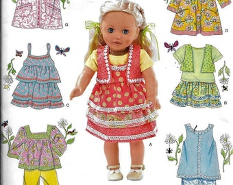"Simplicity 0380 / 2296 Doll Clothes Sewing Pattern Fits 18"" American Girl Goetz UNCUT"