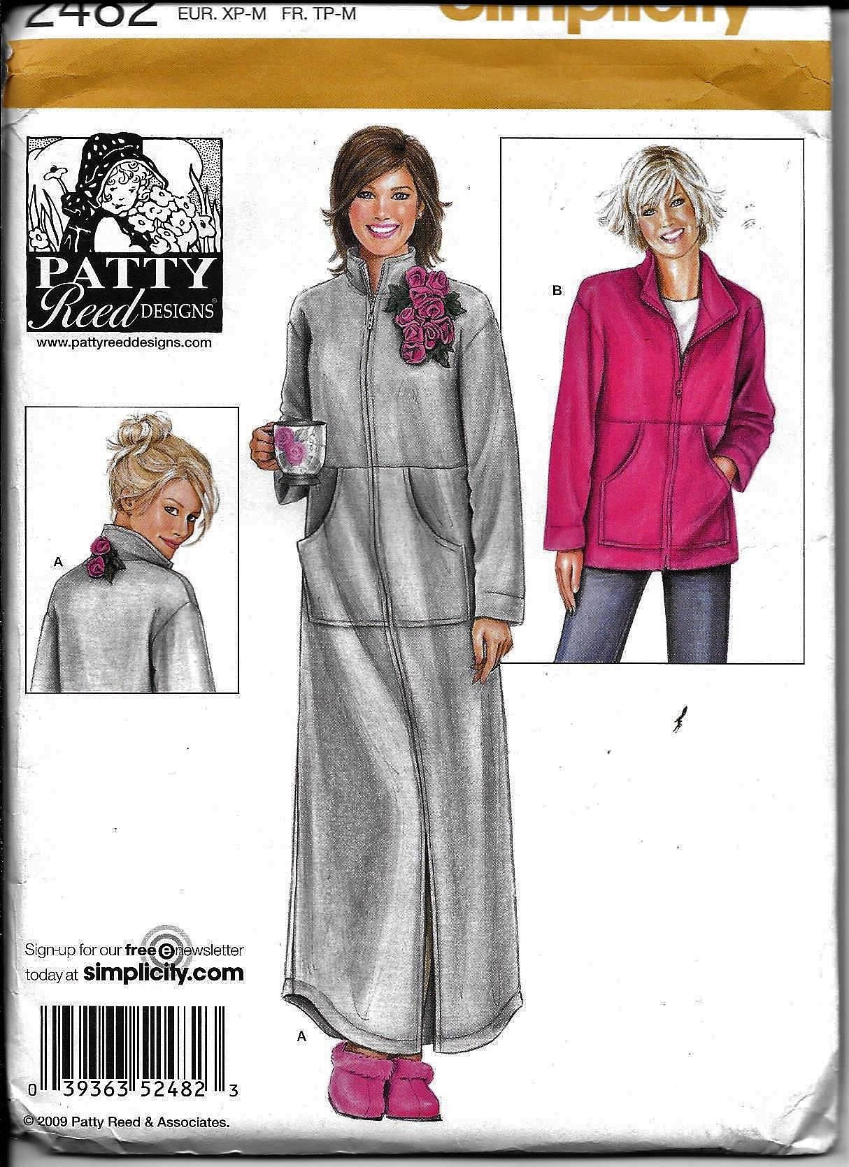 3a76dfa5e8 Simplicity Pattern 2482 Patty Reed Loungewear Misses Robe