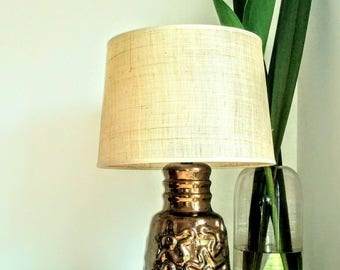 1960s Bronze Australian Pottery Table Lamp