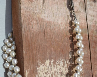 Chocker Pearl  Hippie Gypsy Boho Chic Christmas Necklace