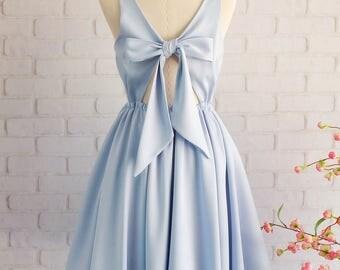 Serenity Blue dress Serenity Blue bridesmaid dresses Blue party dress blue prom dress blue cocktail dress blue backless dress Serenity dress