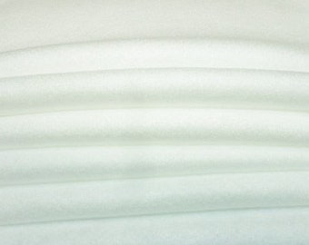 White Felt, Wool Felt Sheets, Bright White Wool Felt, Merino Blend Wool, Craft Felt, 12 X 18