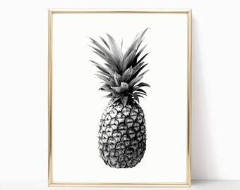 SALE -50% Pineapple Digital Print Instant Art INSTANT DOWNLOAD Printable Wall Decor