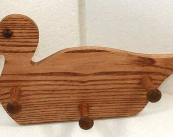 Duck Peg Rack for coats, leashes, or anything you can hang on a peg