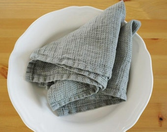 Luxury  Washed Linen Waffle Napkins  Set of 2 - linen-Table cloth