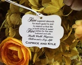 Starts at 50 Personalized  Wedding Favor tags ALMOND WISH