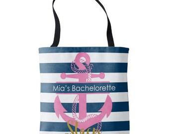 Personalized Womens Canvas Tote - Monogram Canvas Bag - Bachelorette Favors - Bride Gift - Girls Trip Favors