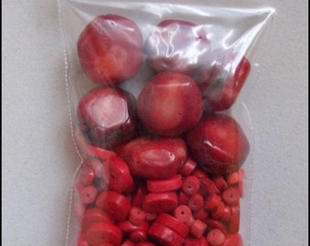 Red Bamboo Coral Beads and More
