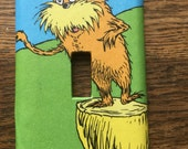 The Lorax Upcycled /Recycled Light Switch Plate