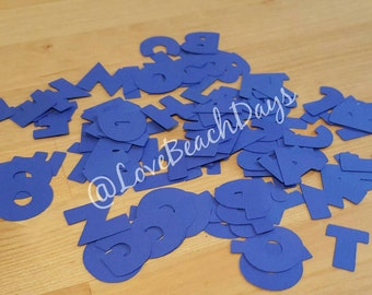 BLUE Disney Alphabet: 1 inch 110 piece Disney Scrapbooking Font Set, Mickey Custom Confetti Pieces, Scrapbooking, Birthday, Decorations
