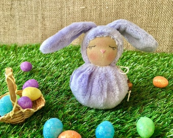Little Lilac Waldorf Bunny - Easter Rabbit