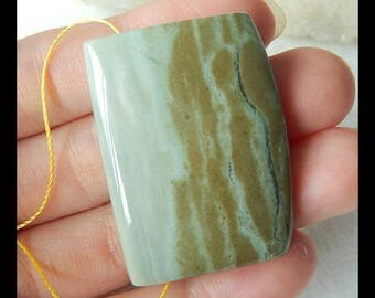 Natural Ocean Jasper Gemstone Pendant Bead,37x27x9mm,17.6g(e0237)