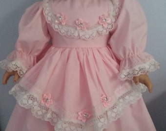 Pretty pink gown for american girl doll