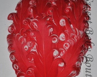 Feather Pad Red/White