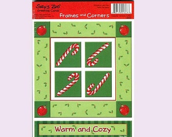 Suzy's Zoo Scrapbook Card Stock Frames and Corners WARM and COZY