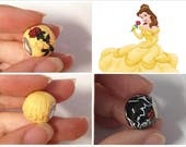 GUO GUO'S-Beauty and the Beast Inspired European style Large hole Bead Charm/ , Made to order