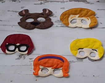 Scooby Doo Inspired Character Masks
