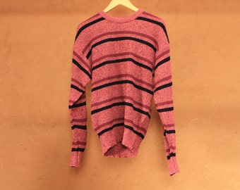 twin peaks vintage 90s simple STRIPED grunge SLOUCHY warm sweater