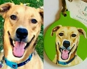 hand painted dog ornament, custom pet painting, dog lover gift, custom pet ornament, custom made dog ornament, Valentine's Day gift