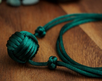 Single Ball Necklace by Monkey Fist Knot - choose your color