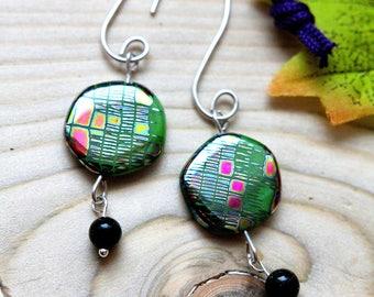 Sterling Silver & Czech glass earrings