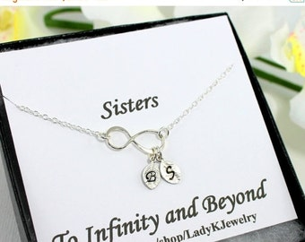 Sisters Infinity Bracelet, Personalized Jewelry,Sterling Silver Initial Bracelet,Infinity Initials, Sisters Wedding, Sister Gift Card