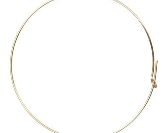Wire Beading Hoop 14Kt Gold Filled 21ga 45mm - 2 Pairs(10551)/1